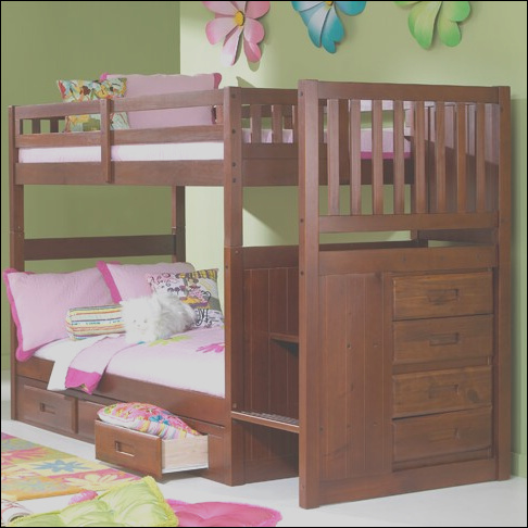 Viv Rae Kaitlyn Twin over Twin Bunk Bed with Stairs VVRE1301