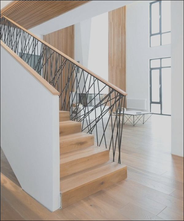 stair railing ideas wood and metal