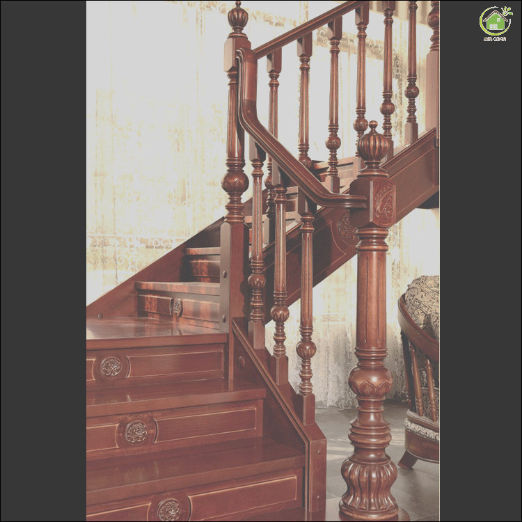 soundproof solid wood stair step railing