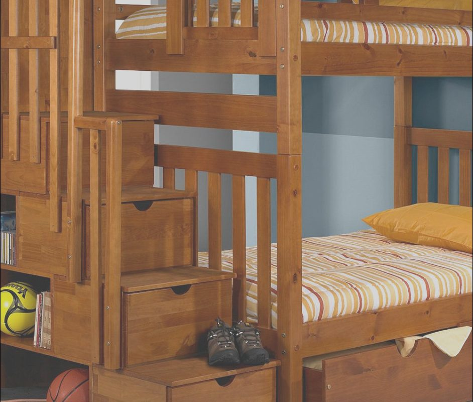 Wooden Bunk Beds with Stairs Best Of Ikea Wooden Bunk Bed with Storage Under Staircase