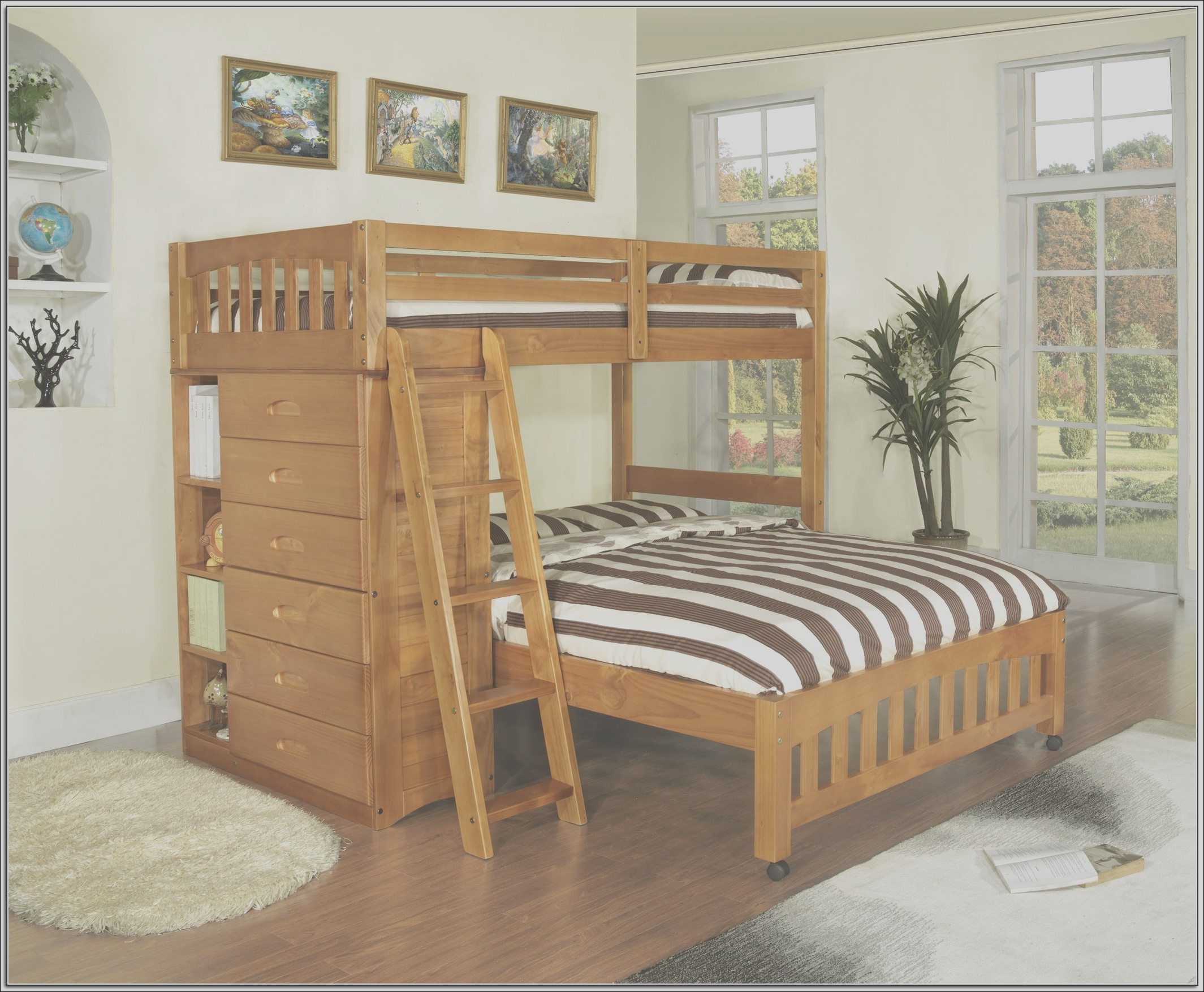 9816 twin over full bunk bed with stairs canada