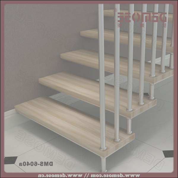 9 plex stairs wooden grill stock