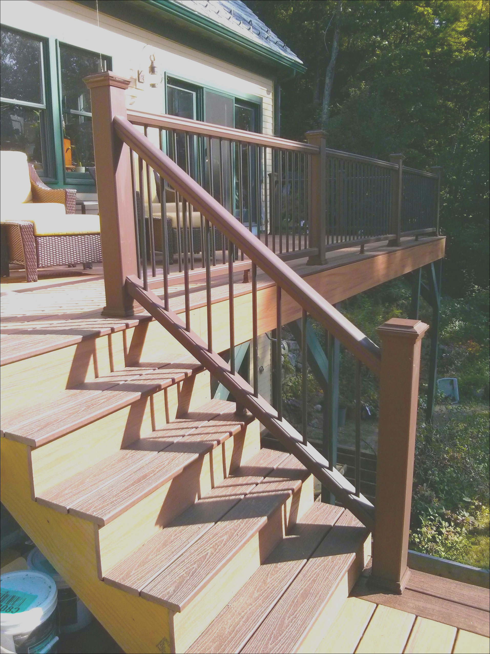 how to build a deck stair railing