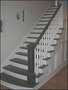 black and white stair ideas