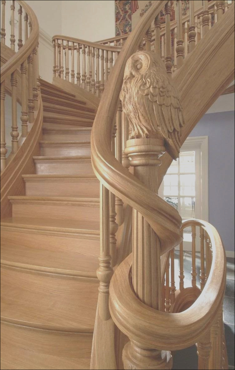 unique carved wood staircase ideas