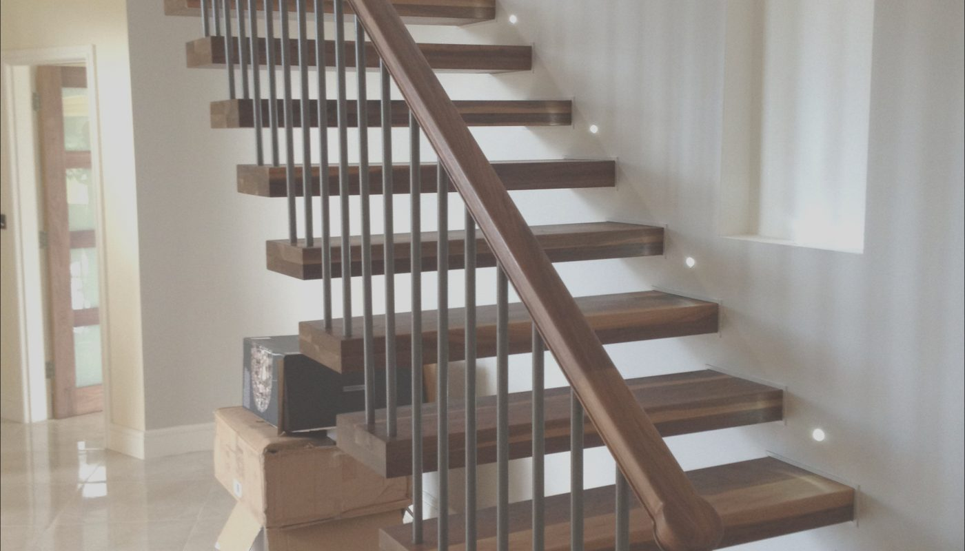 Wooden Stairs Indoor Awesome Invisible Wall Side Stringer Stairs Indoor Wood Staircase