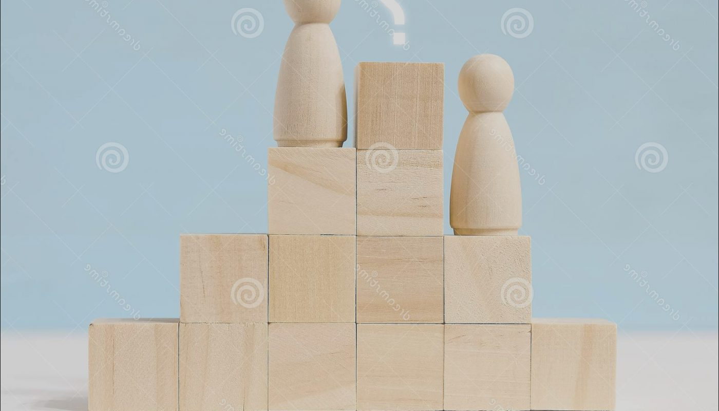 Wooden Stairs Questions Elegant Wooden Figures Men Career Stairs with Question Mark