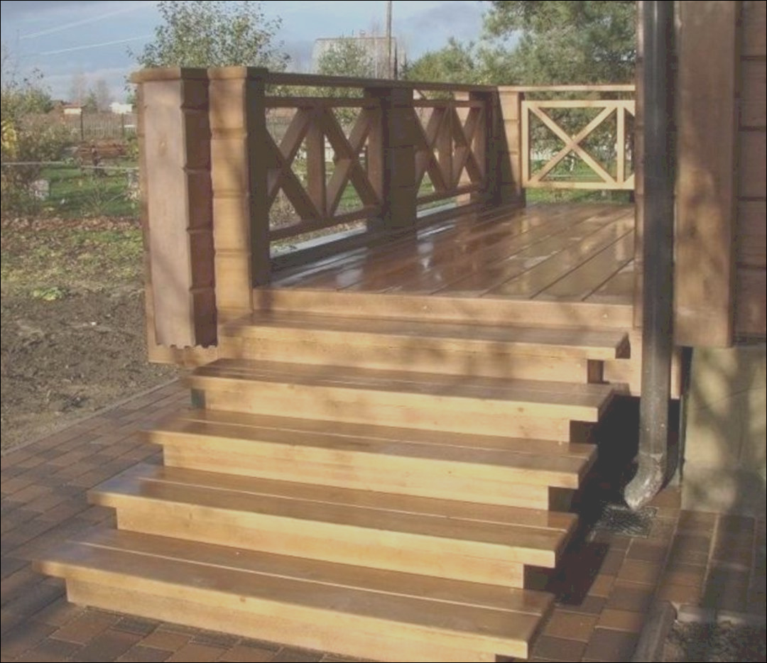 outdoor wooden stairs ideas 7
