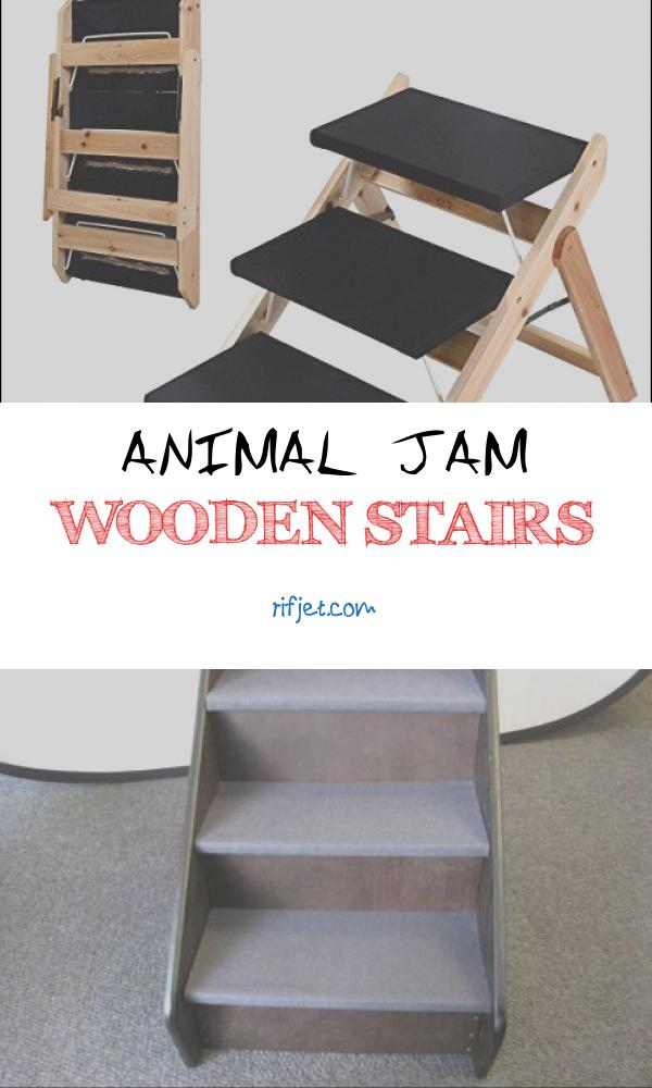 Animal Jam Wooden Stairs Luxury New Portable Folding 2 In 1 Wooden Pet Ramp & Stairs Dog