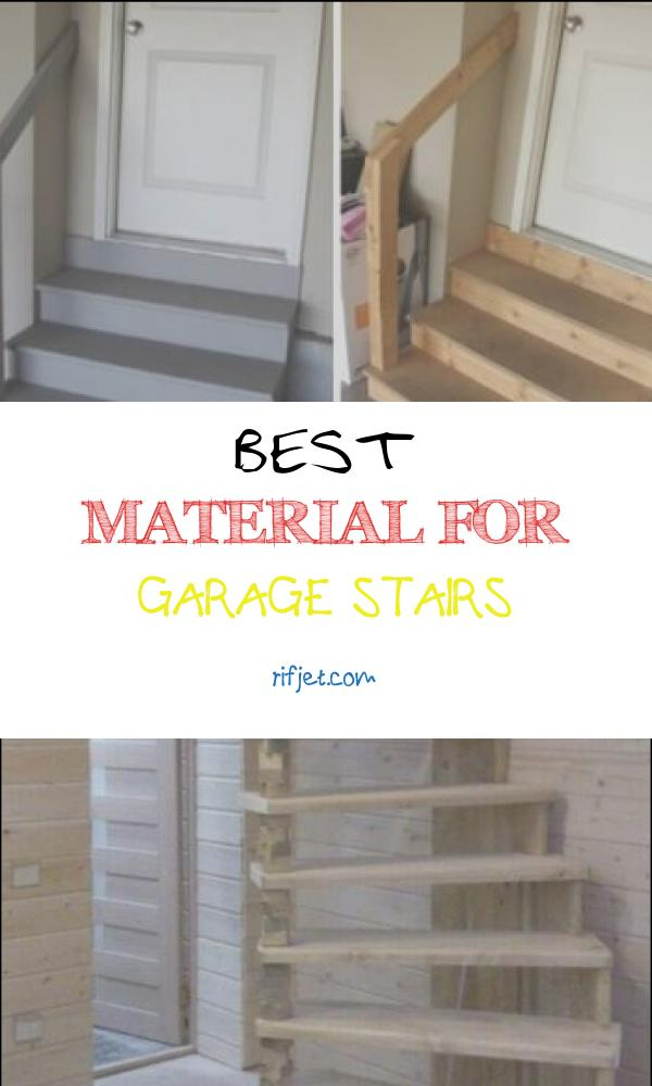 13 Elegant Best Material for Garage Stairs Images