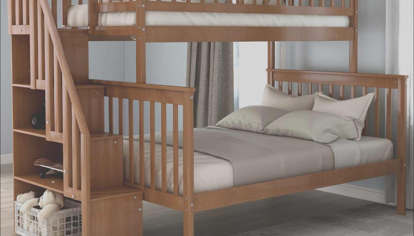 Bunk Bed Sets with Stairs Awesome Harper&bright Designs Twin Over Full Bunk Bed with Stairs