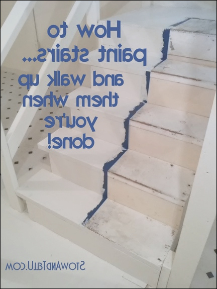 how to paint stairs not trapped