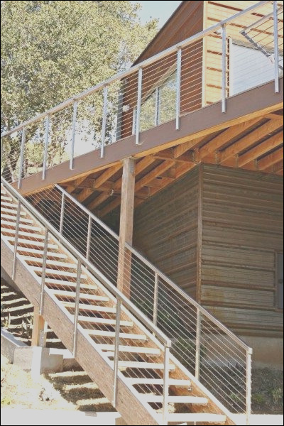 Moody rear deck stairs contemporary exterior san francisco