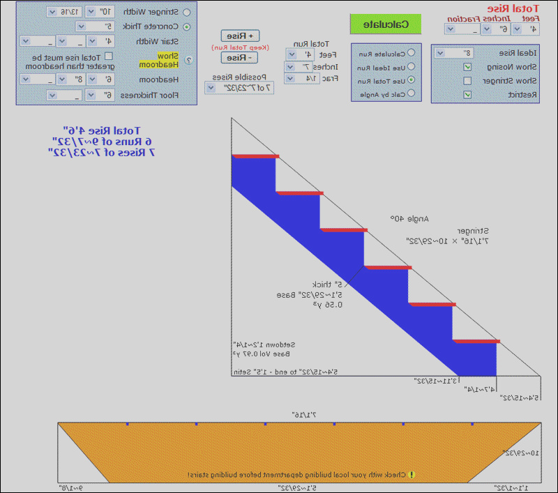 deck stairs calculator