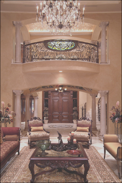 Entries Hallways and Stairs traditional living room other metro