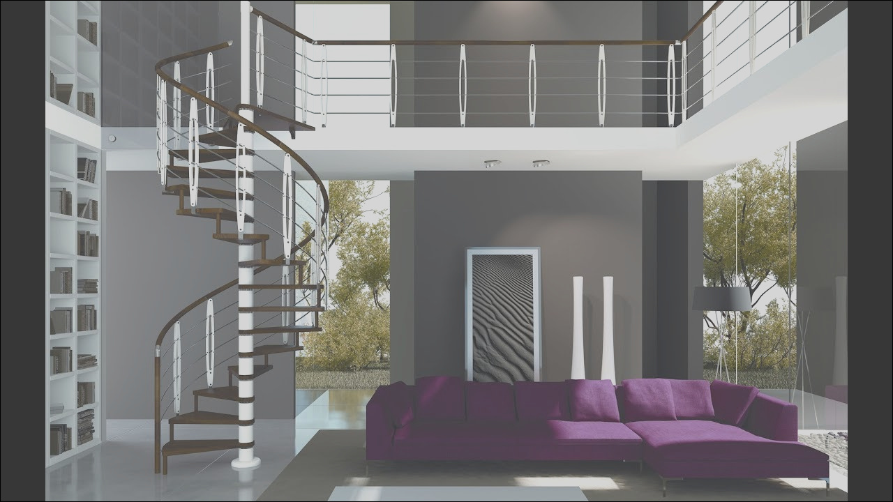 small living room with stairs design