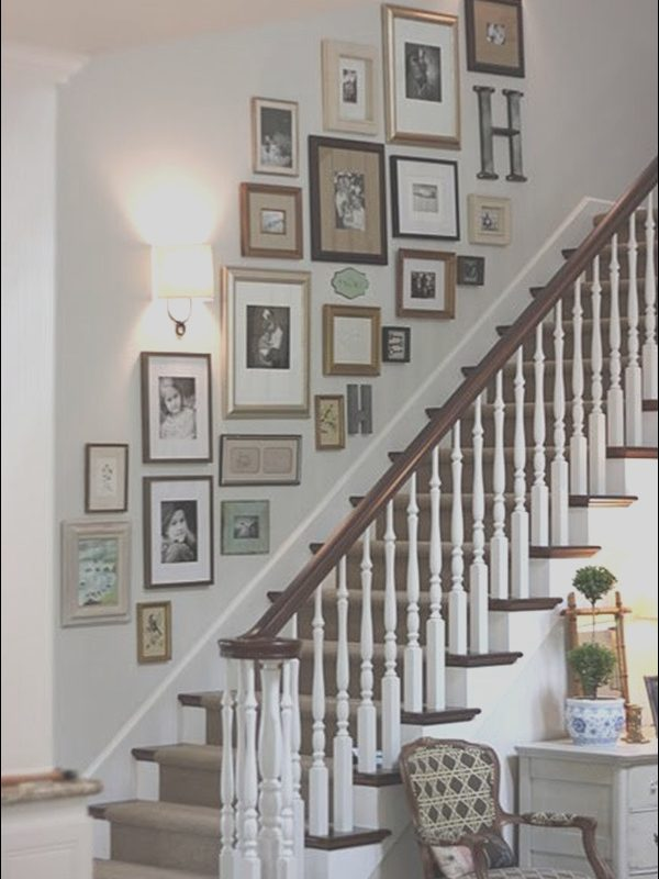 Decorating Wall by Stairs Fresh 40 Must Try Stair Wall Decoration Ideas