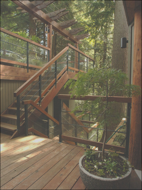 outdoor stair railing