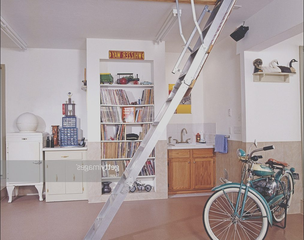 Folding Stairs Garage Lovely Folding Stairs Access Storage Space Garage High Res