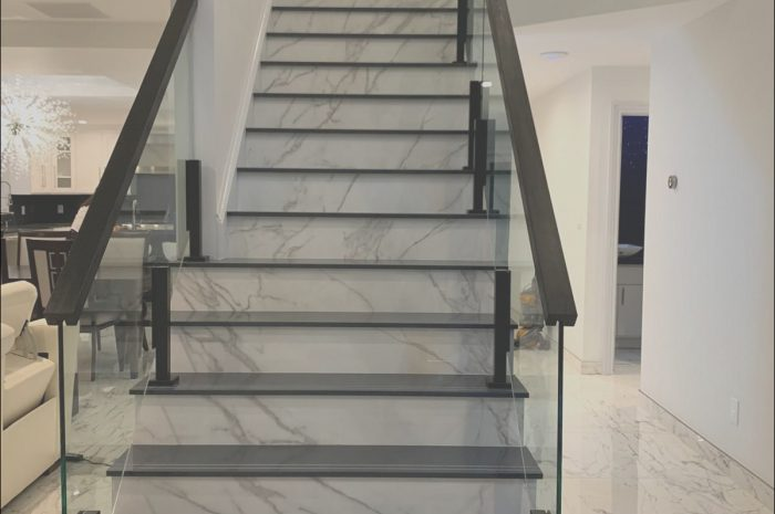 12 Typical Glass Railings Stairs Design Stock