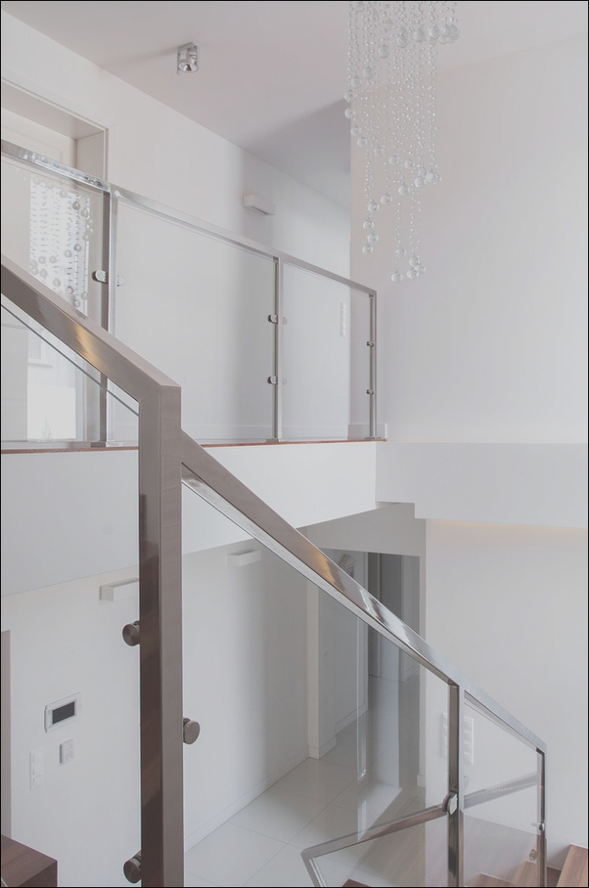 modern staircase glass