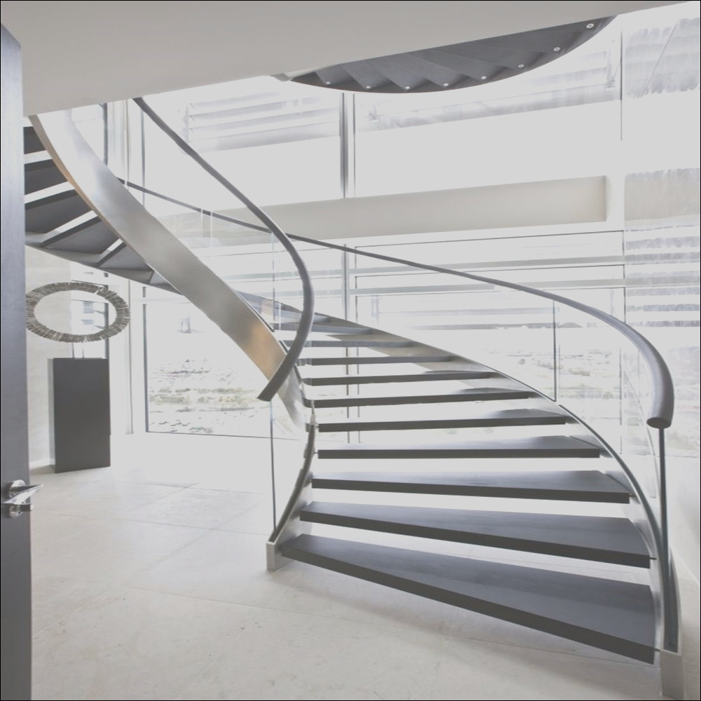 China Modern Curved Glass Staircases Helical Staircase Design Curved Staircase Stairs