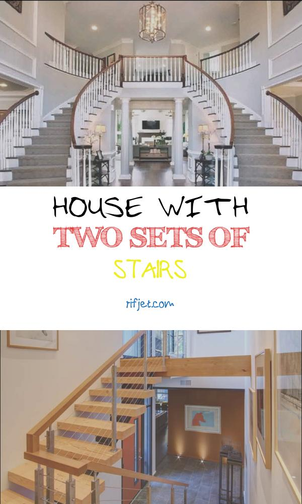 House with Two Sets Of Stairs Elegant Two Staircase House Plans In 2020