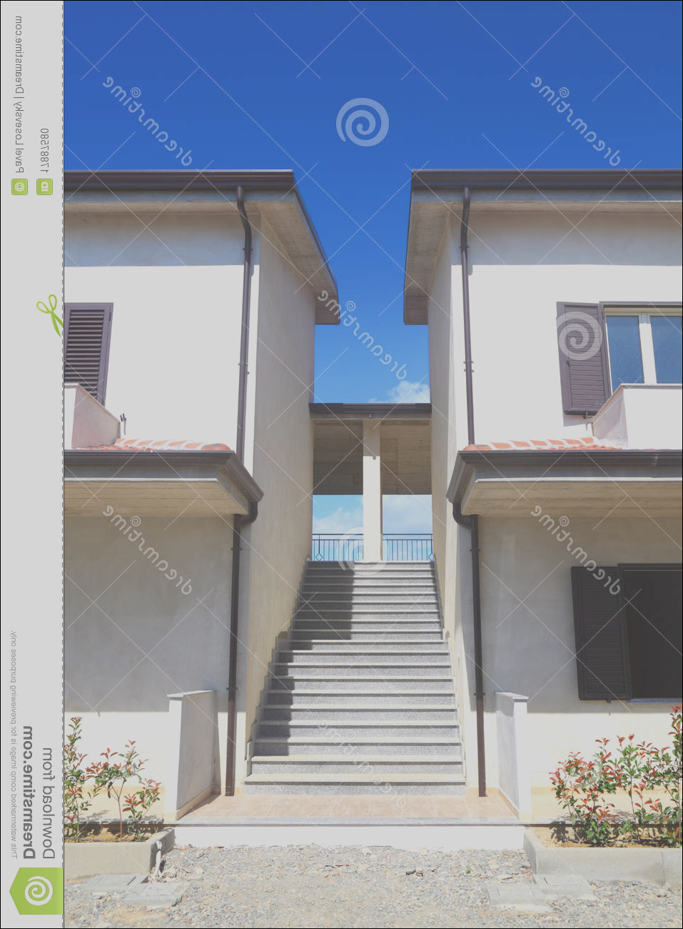 stock photo stairs two two story houses image