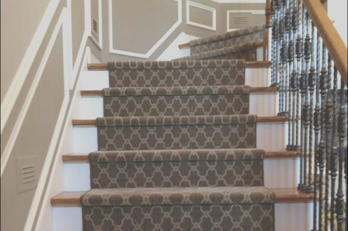 13 Lively Modern Carpet Runner for Stairs Image