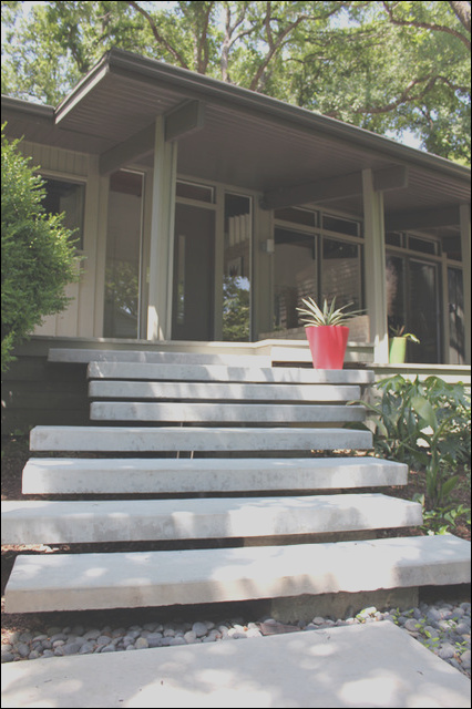 Floating Staircase Floating Concrete Steps Dallas TX modern landscape other