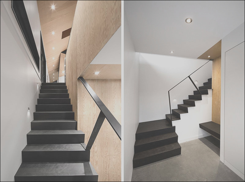 12 black stairs in modern homes