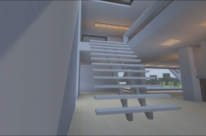 11 Lovely Modern Stairs Minecraft Photography