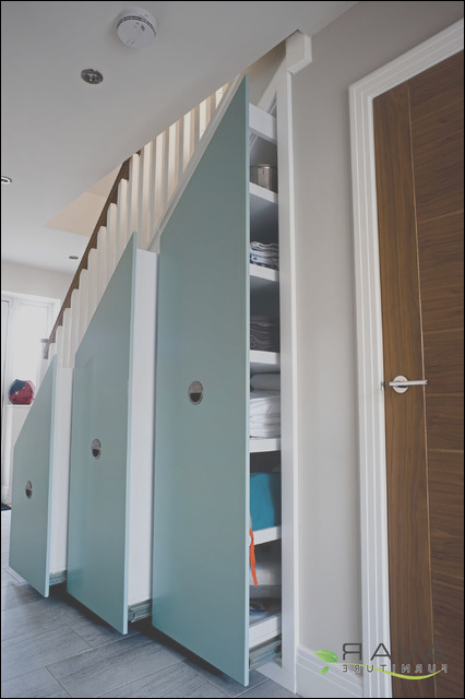 contemporary under stairs storage solutions contemporary london