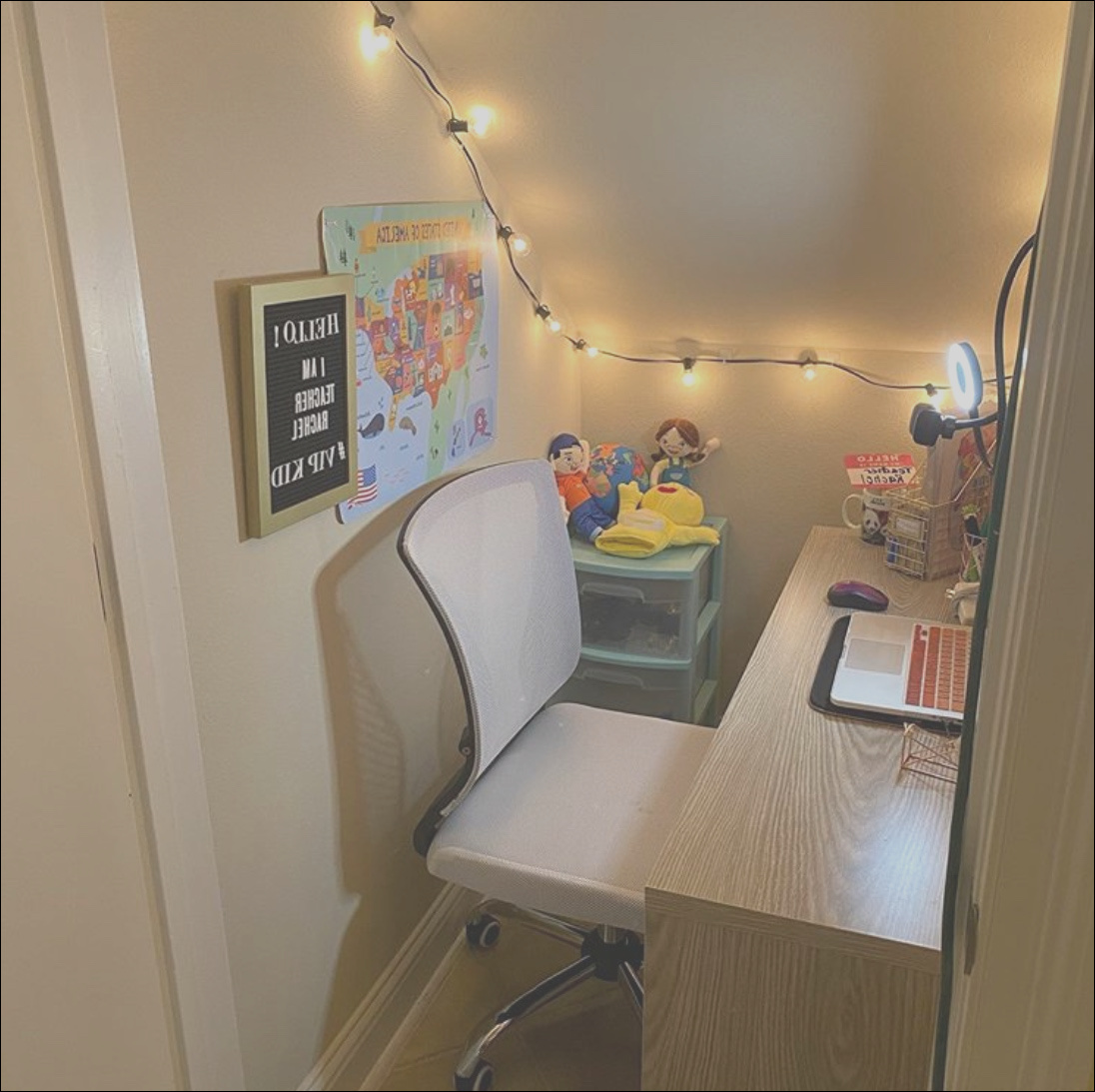 under stairs office home