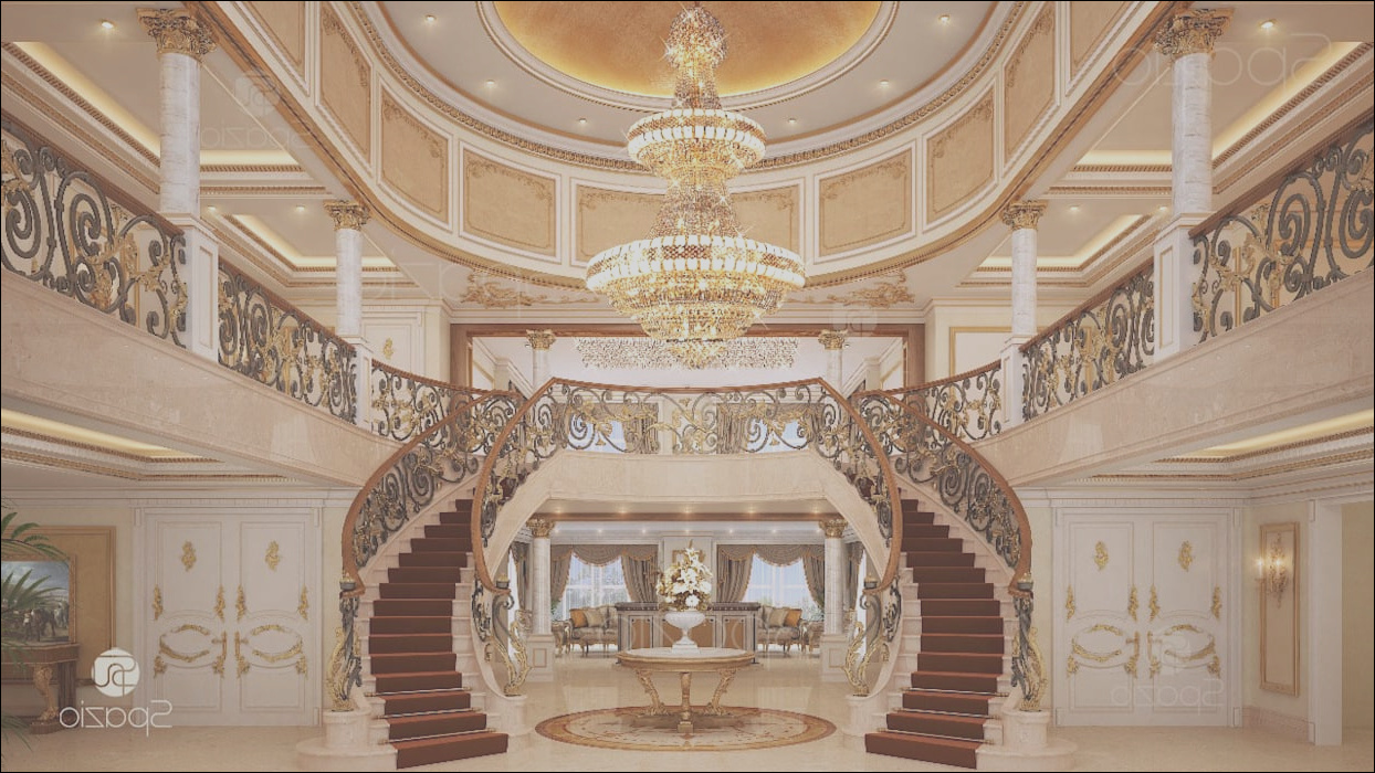 luxury main staircase interior design of a palace