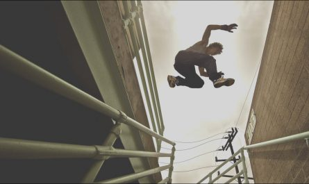 Parkour Roof to Stairs Fresh Epic Parkour Roof Jump Will Scare You to Shreds [video]