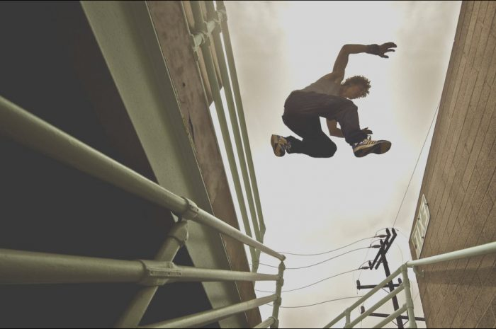 9 Simplistic Parkour Roof to Stairs Photography