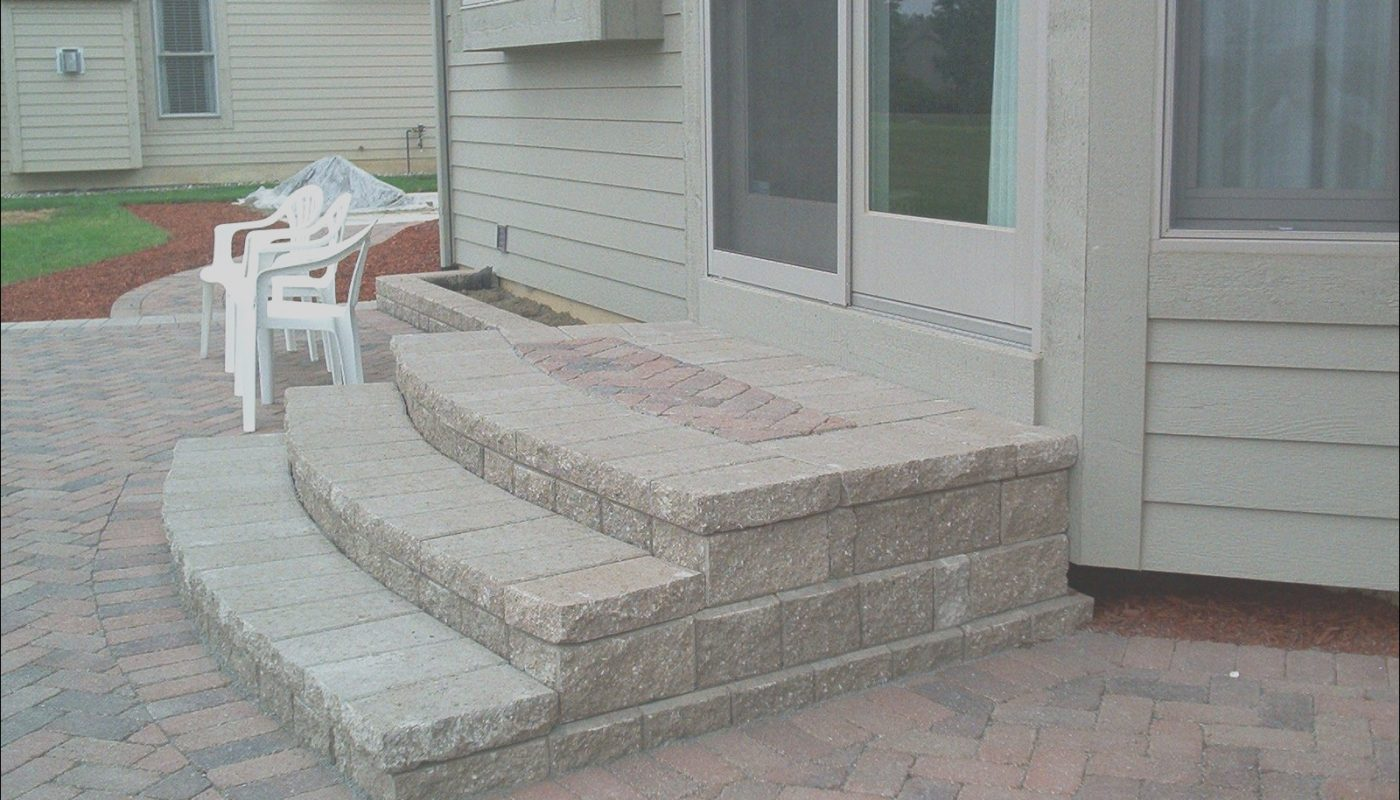 Paver Stairs Ideas Awesome Patio Stairs Ideas