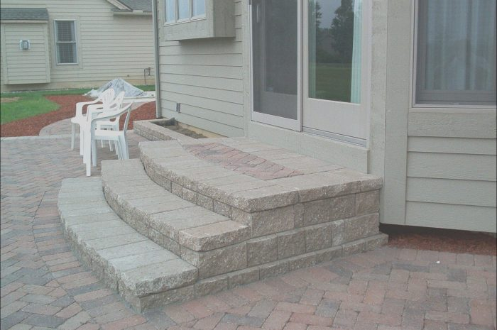 14 Creative Paver Stairs Ideas Images
