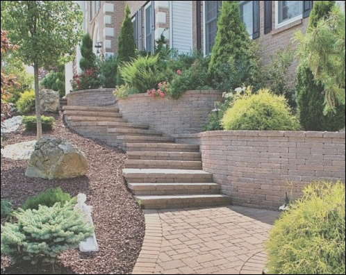 md stonescapes design paver stairs paver treads 4596