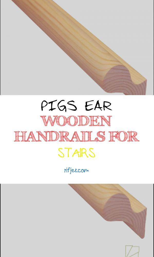 Pigs Ear Wooden Handrails for Stairs Beautiful Stair Handrail Pig Ear Wall Fix solid Wood Pine