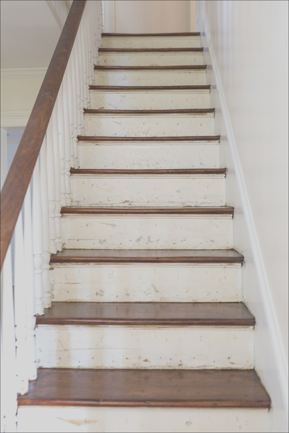 design darling darien house provincial stain on pine stairs