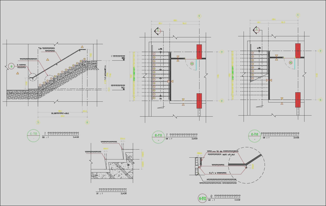 Download Free RCC Staircase Structure Design AutoCAD File