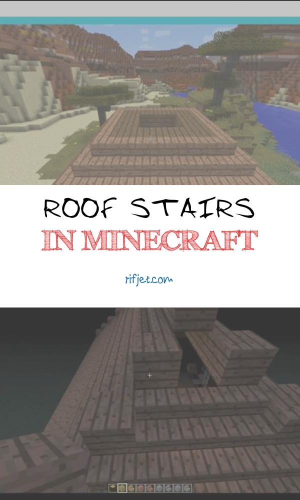 14 Magnificent Roof Stairs In Minecraft Photos