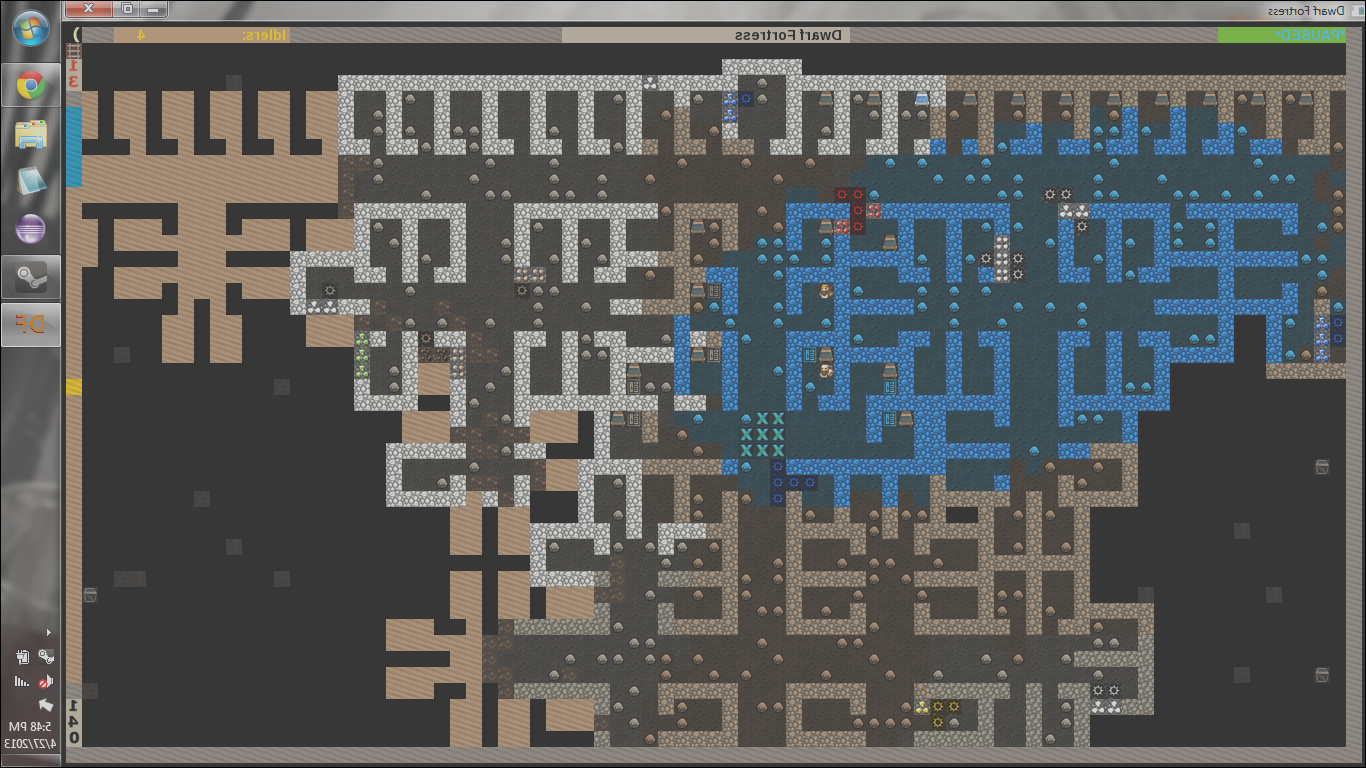 i just started playing dwarf fortress a few days