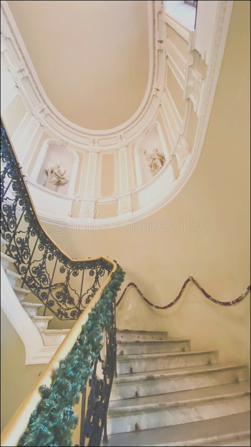historic building beautiful decorative staircase classic design history culture concept historic building beautiful image