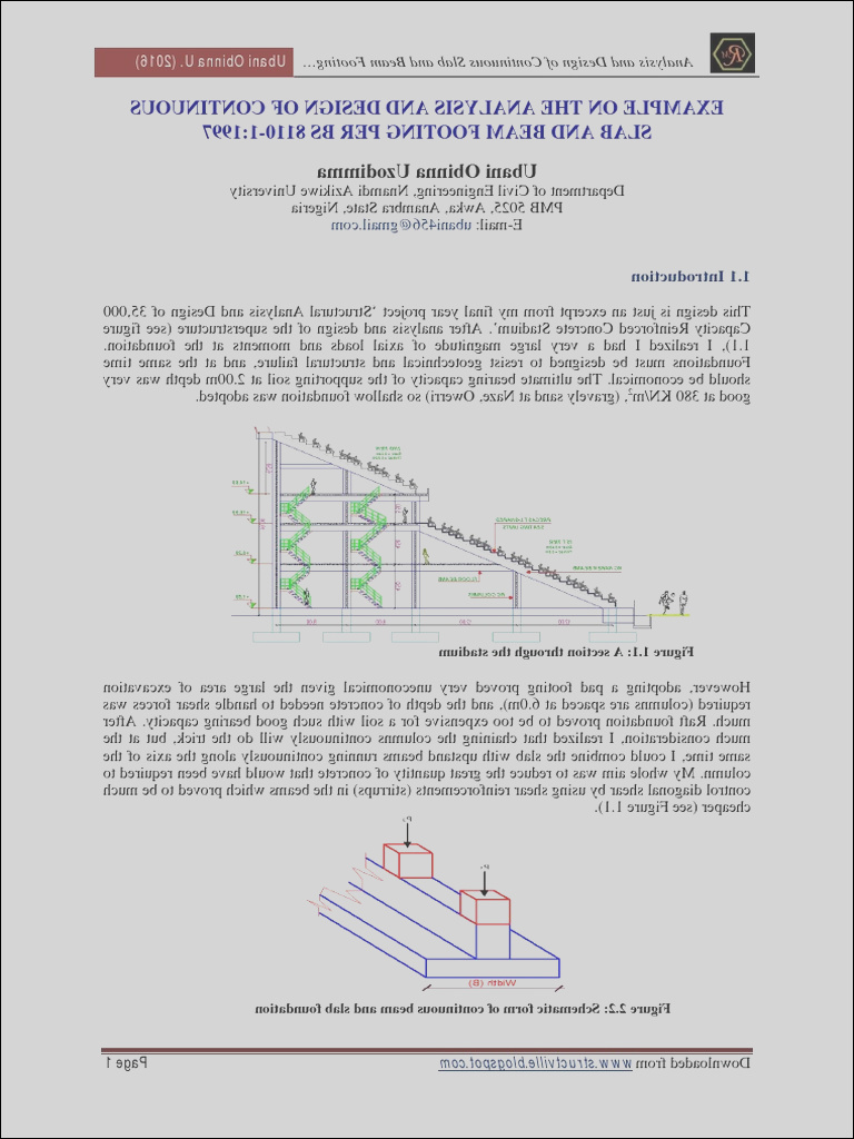 Design of Continuous Beam and Slab Footing using BS 8110 1 1997