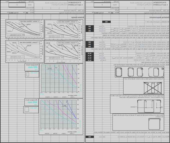 reinforced concrete beam design to bs8110 premium spreadsheet