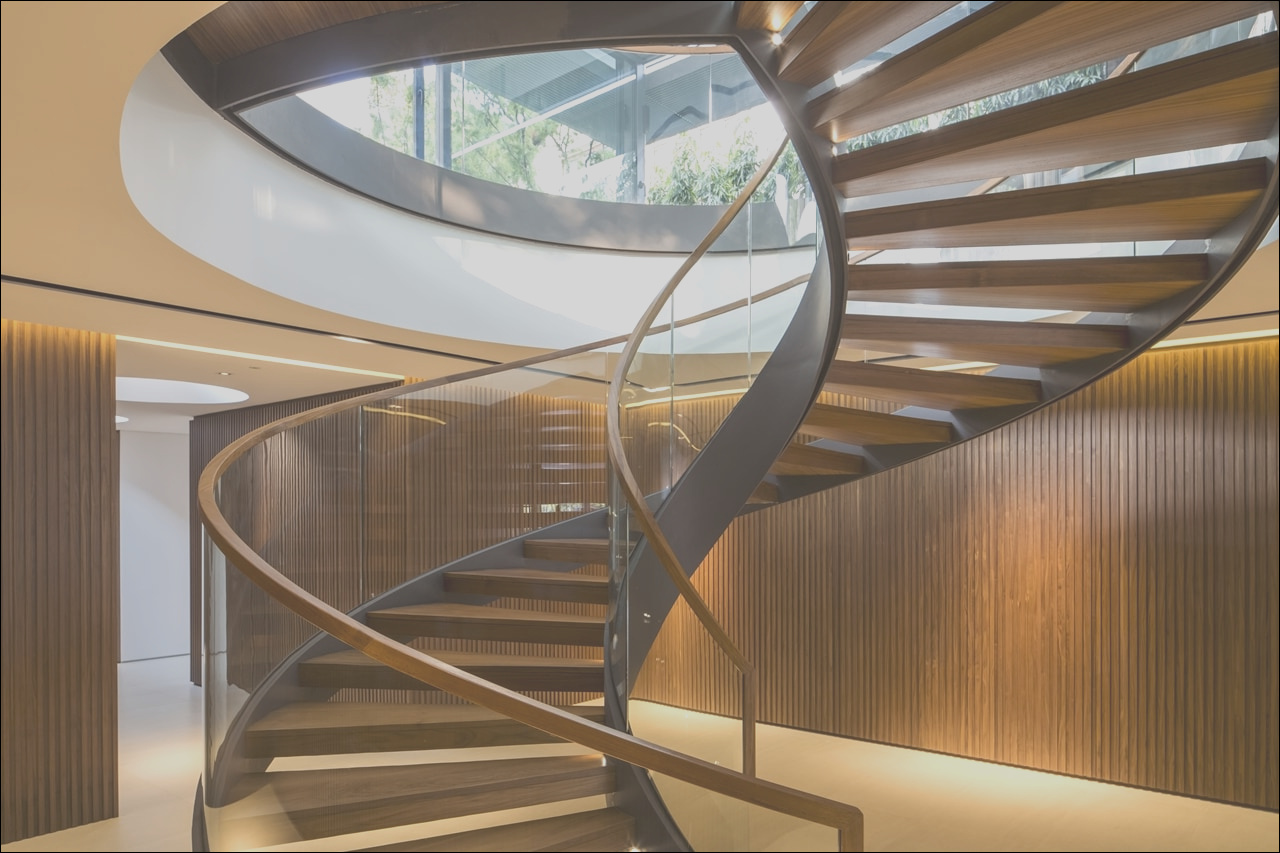 this spiral staircase will turn any home into modern mansion