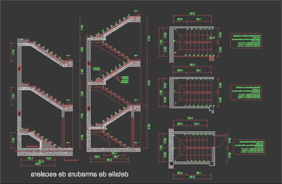 stairs dwg detail for autocad 9